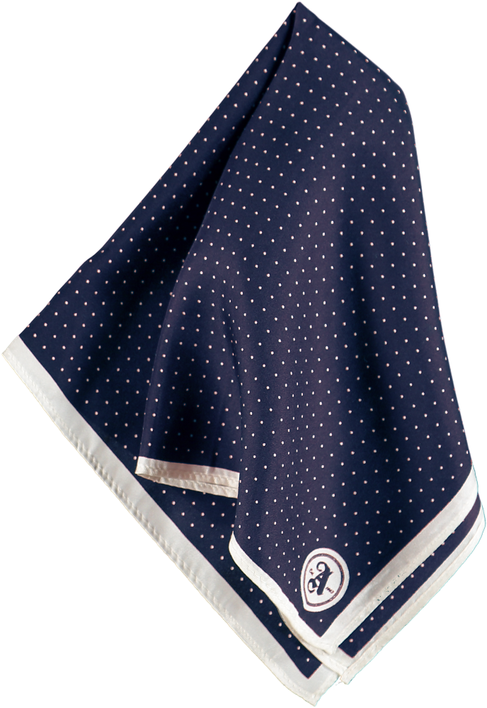 HANKY MINI DOTS NAVY