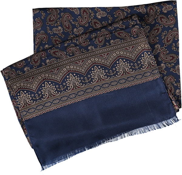 SCARF PAISLEY NAVY