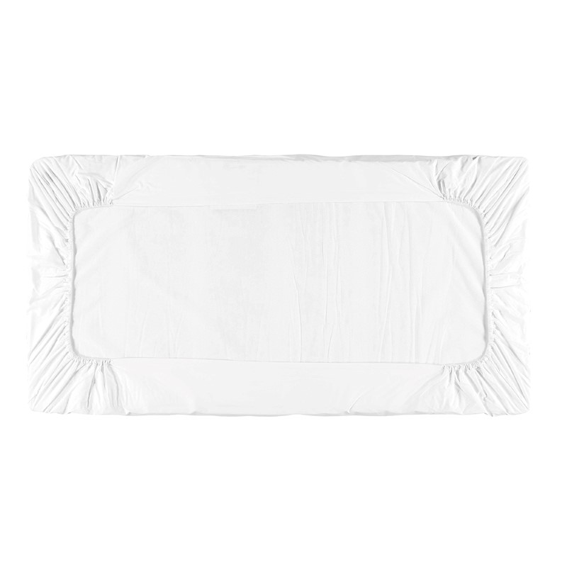 BABY FITTED SHEET ECO PERCALE WHITE 60X120 CM