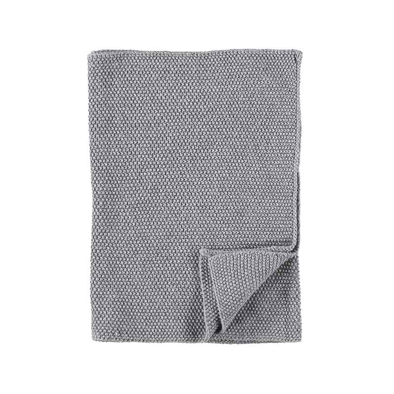 KITCHEN TOWEL KNITTED GREY MELANGE 40X60 CM