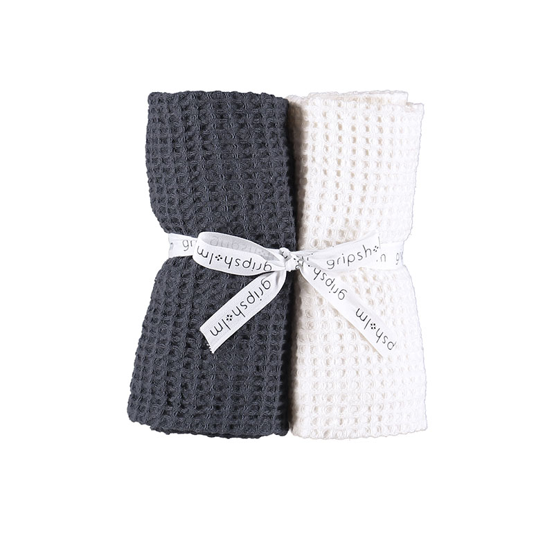 KITCHEN TOWEL WASHED WAFFLE 2-PACK WHITE/OMBRE BLUE 50X70 CM 2 PC/PACK