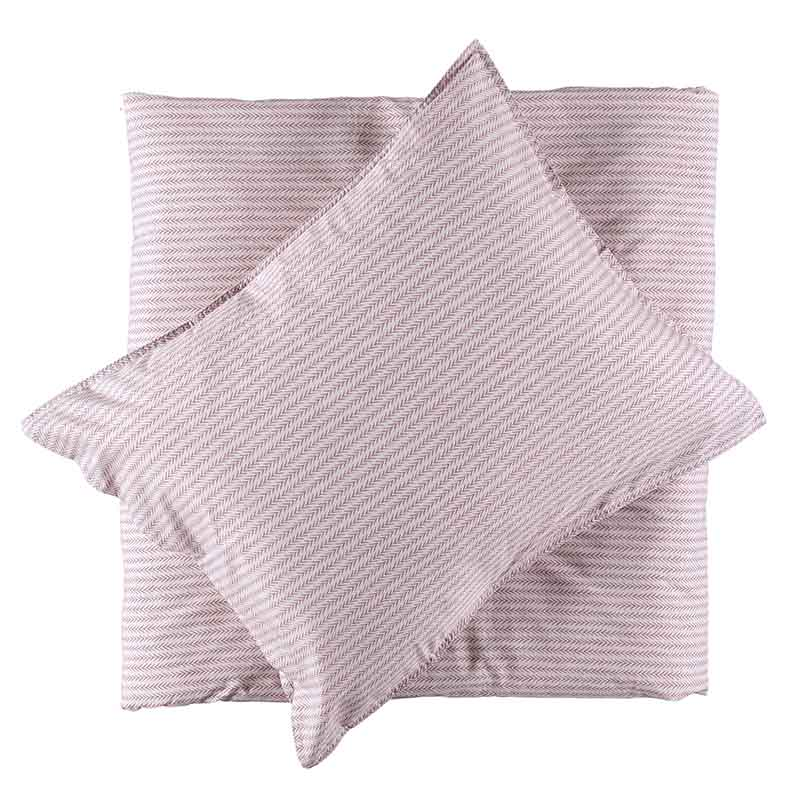 BED SET PERCALE LYDIA MISTY PINK 150X210+50X60 CM