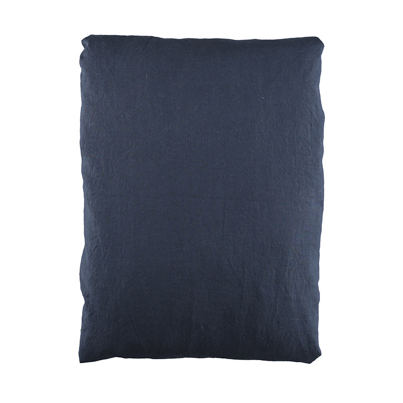 QUILT COVER WASHED LINEN DARK NAVY 150X210 CM